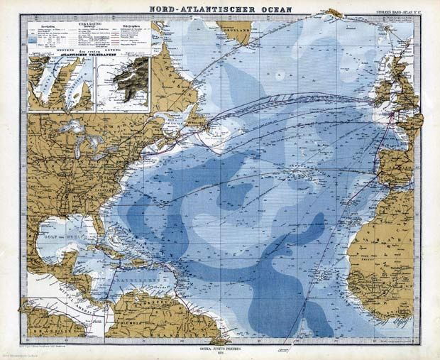 Map of the north atlantic 1867 image biblioteca virtual del map of the north atlantic 1867 image biblioteca virtual del patrimonio bibliogrfico gumiabroncs Choice Image