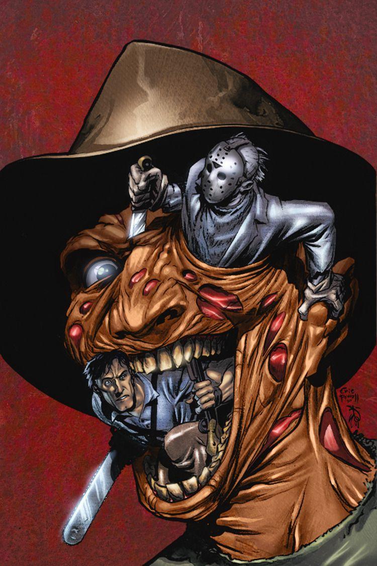 Freddy vs Jason vs Ash: Outline by Eric Powell - Colours by Robtlsnyder