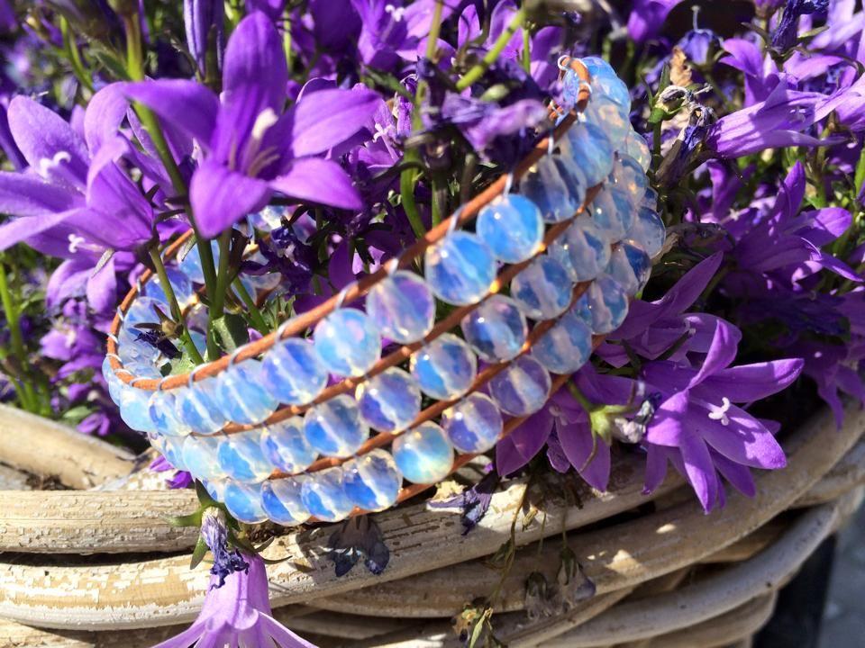 3-rij armband Opaliet