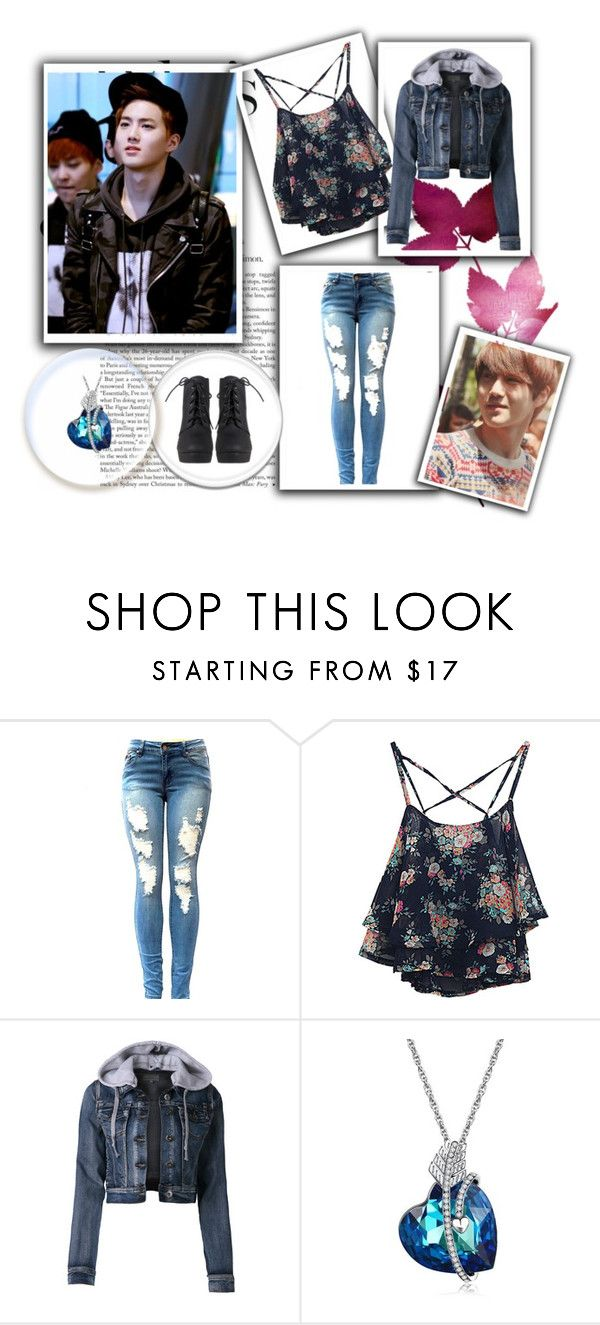 """""""Suho!!!!!!"""" by stevtasha-romanodgers ❤ liked on Polyvore featuring LE3NO"""