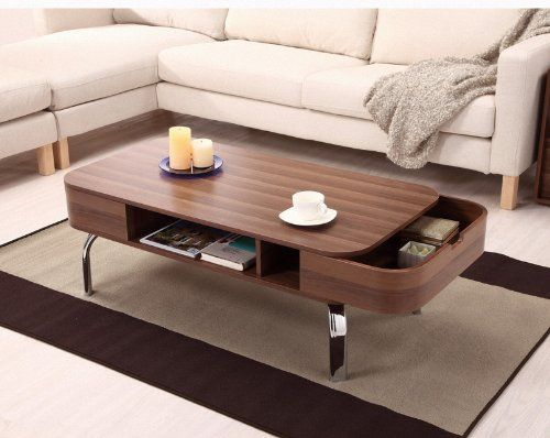 Furniture Of America Luxer Coffee Table With Drawers Walnut Http