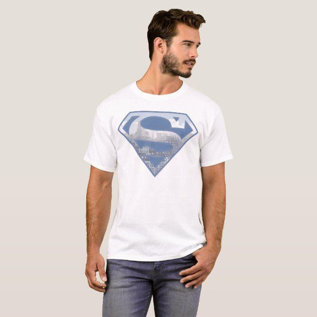 Superman S-Shield  Light Blue City Logo T-Shirt #Sponsored , #ad, #Blue, #City, #Logo, #Light, #Shop