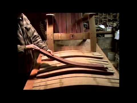 How to build beautiful wine barrel adirondack chair step for Wine barrel chair diy