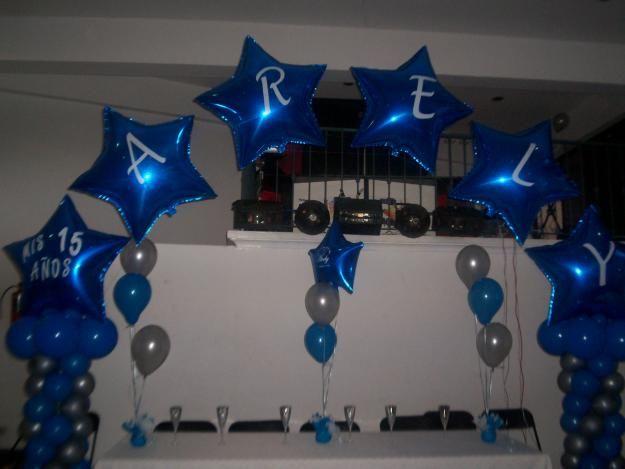 Decoracion de globos para xv a os globos balloons for Decoracion de globos para 15 anos