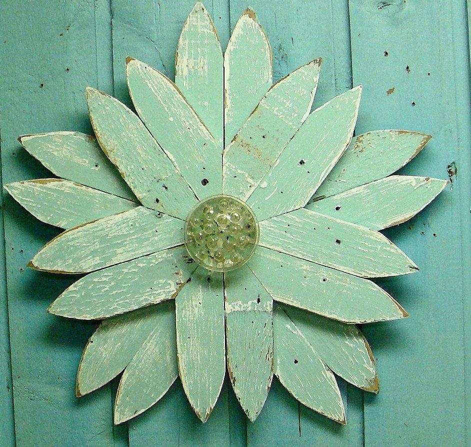 Flower star wall art picket fence star limited by castawayshall