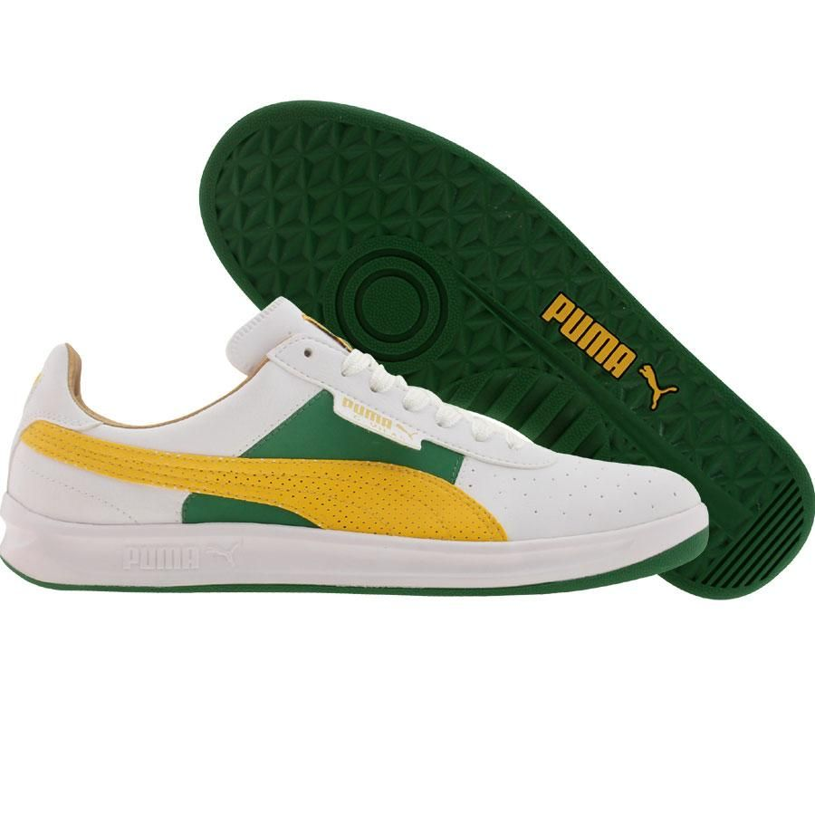 f7d3905ec44d6 Puma G Vilas L2 Games shoes in white, amazon, and spectra yellow ...