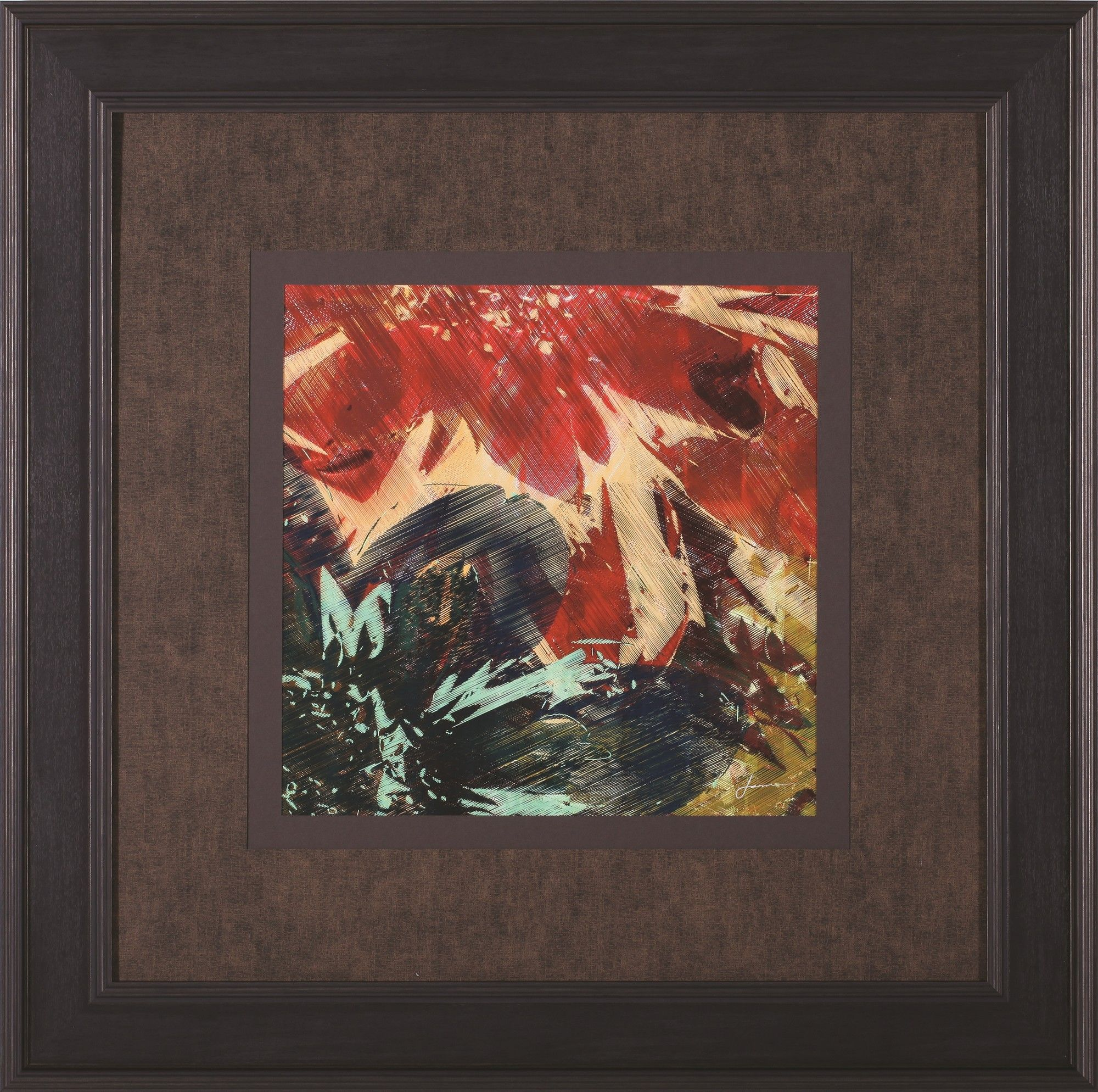 Floragraph II by James Burghardt Framed Painting Print