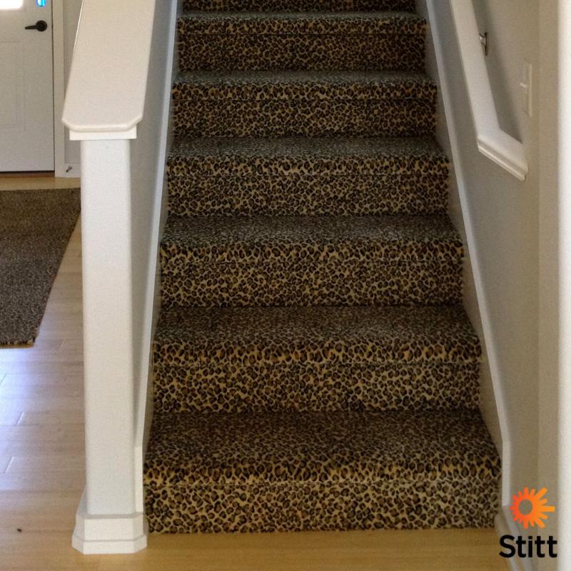 Best Leopard Print Stair Carpeting Printed Carpet Carpet 640 x 480
