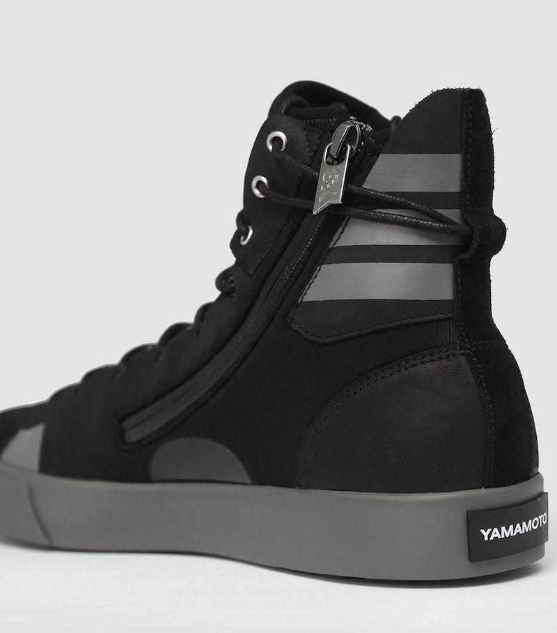 adidas Y-3 Sen High Top Black Sneaker