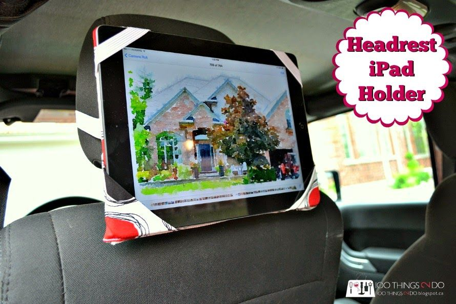 100 Things 2 Do: Headrest iPad Holder DIY | Beach trip | Pinterest