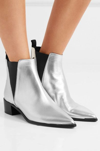 Acne Studios Jensen metallic leather ankle boots huge surprise sale online discount Inexpensive free shipping geniue stockist lD8tNdK