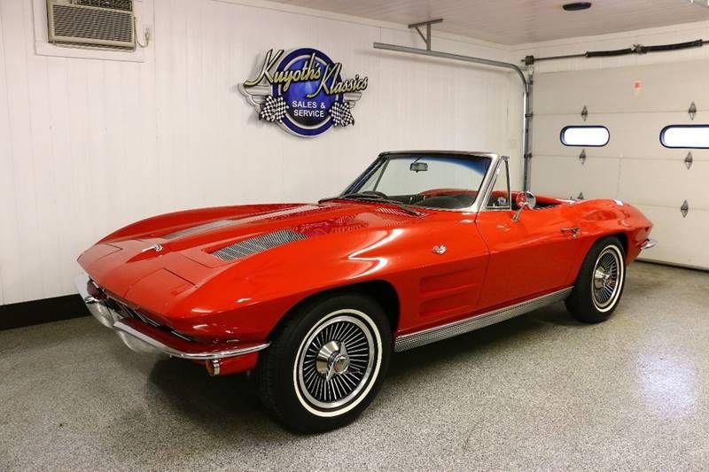 1963 67 327 300 Nm Blk Int Top Red Hardtop 65 Knock Off Wheels Classic Cars Chevrolet Corvette Corvette