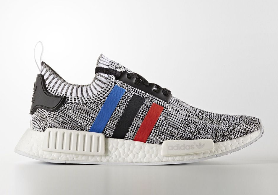 f3f8209dc The adidas NMD R1 Primeknit is back in a new Tri-Color Pack featuring red