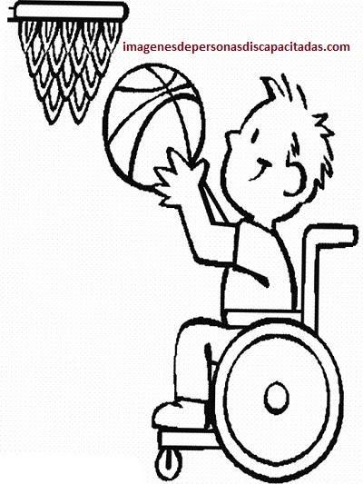 Dibujos de niños con discapacidades diferentes para colorear ...