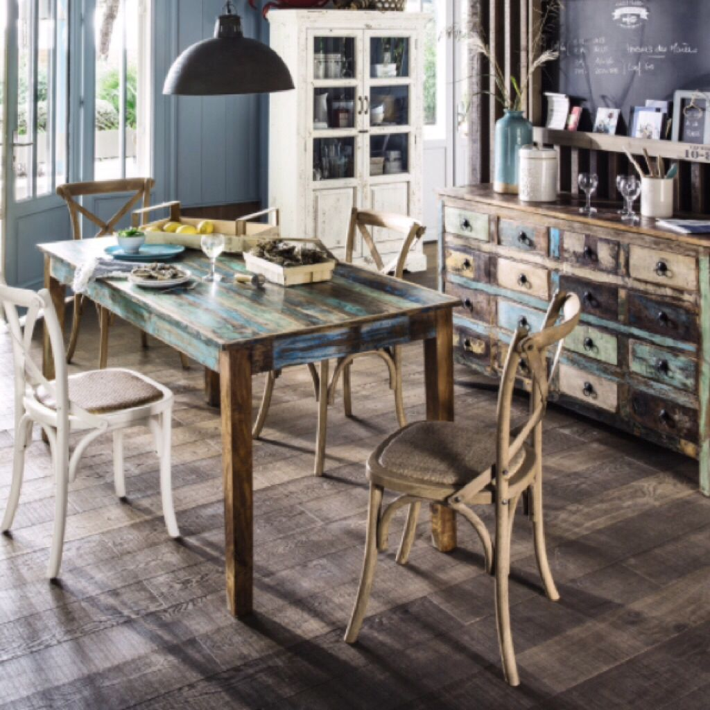 Click to shop ▷ Table de salle à manger en bois recyclé https ...