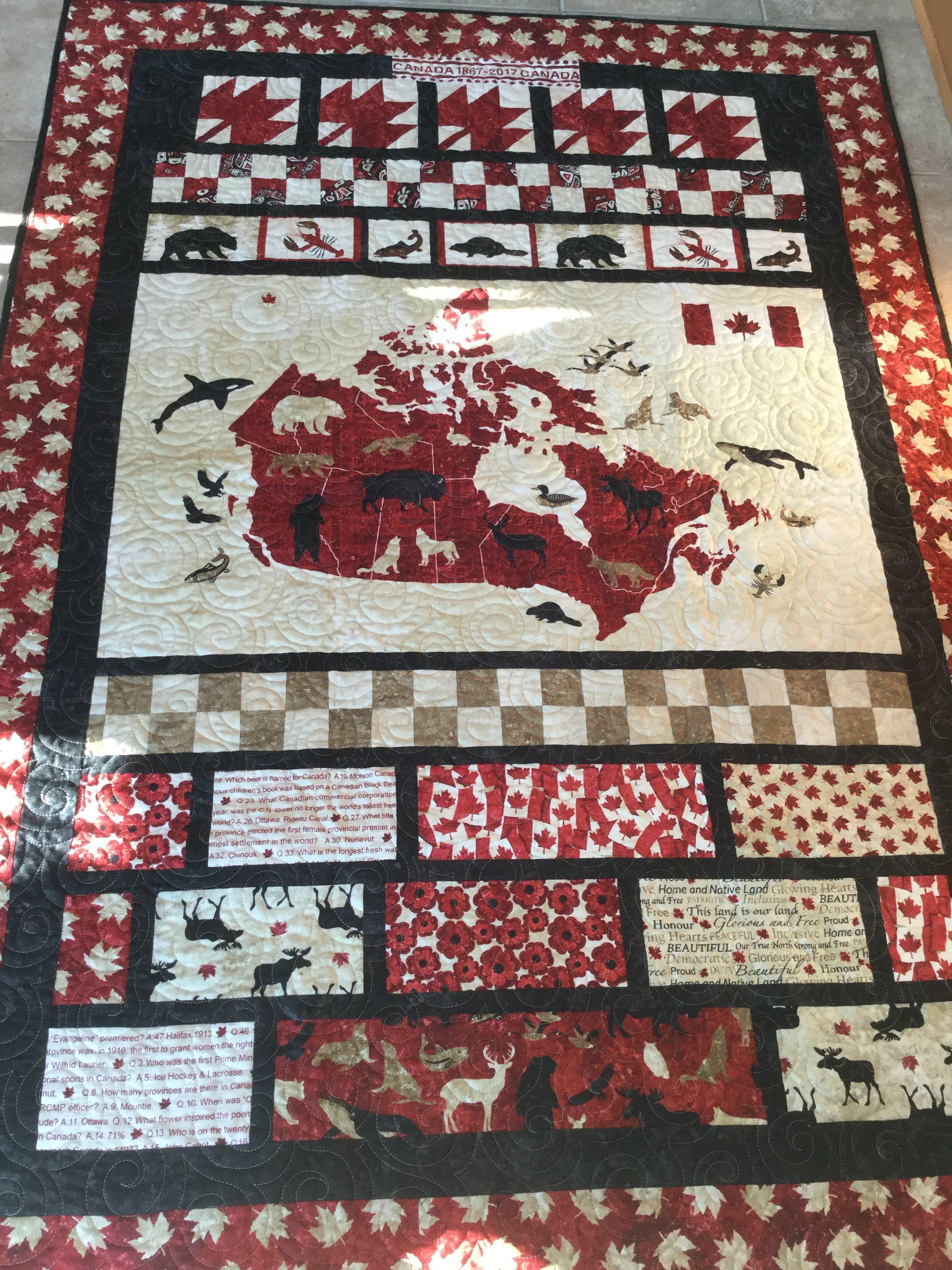 Canada 150 Quilt that I made for the National Defence