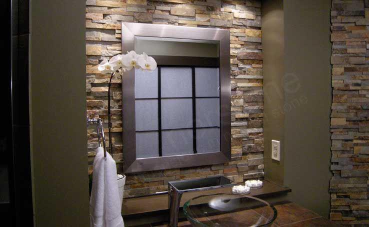 Bathroom Stone Backsplash. Bathroom With Natural Backsplash Stone B ...