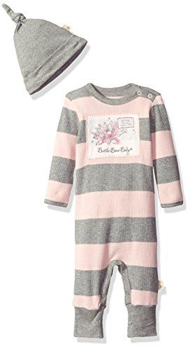 4091b756e Burts Bees Baby Girls Organic Thermal Coverall Hat Set Blossom 36 Months  >>> Read more reviews of the product by visiting the link on the image.