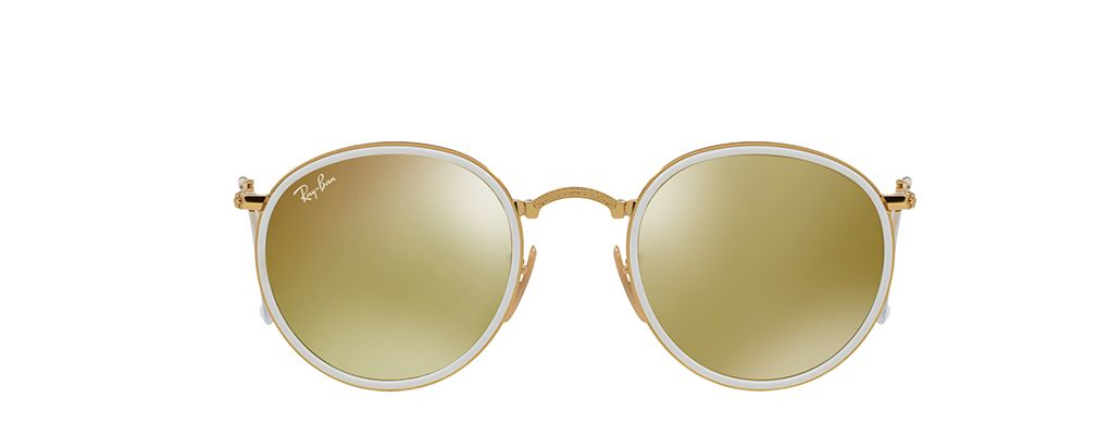 a91c0814da Ray-Ban Round Folding RB3517 001 93 in Yellow and Gold