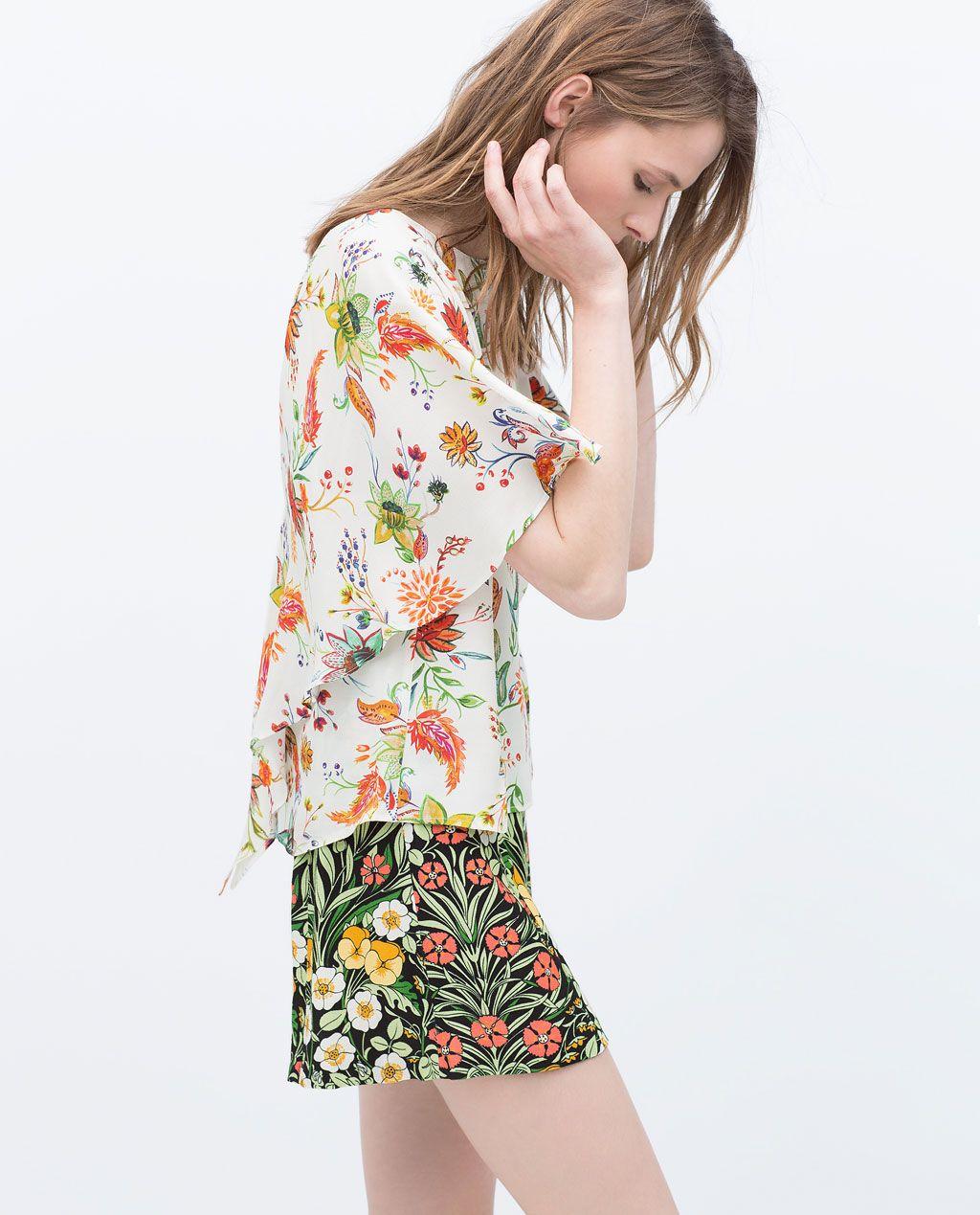 ZARA MUJER TOP ESTAMPADO | ropap | Zara, Mujeres y Camisas