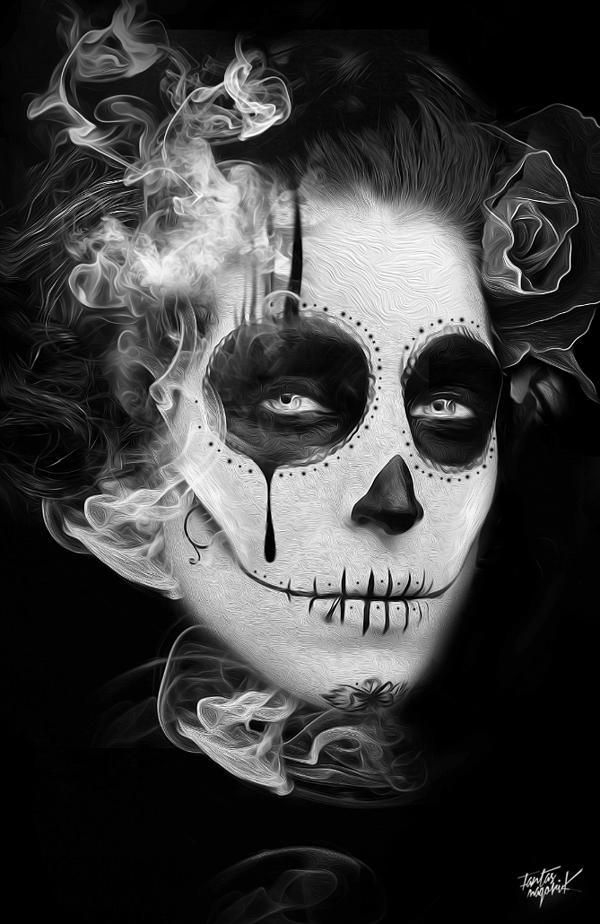 FANTASMAGORIK® MEXICAN SKULL G. by obery nicolas, via Behance