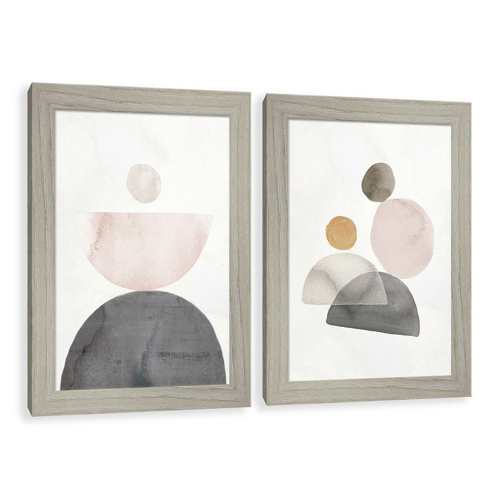 Crescent Moon Watercolor Paper Screened Glass Poster Frame