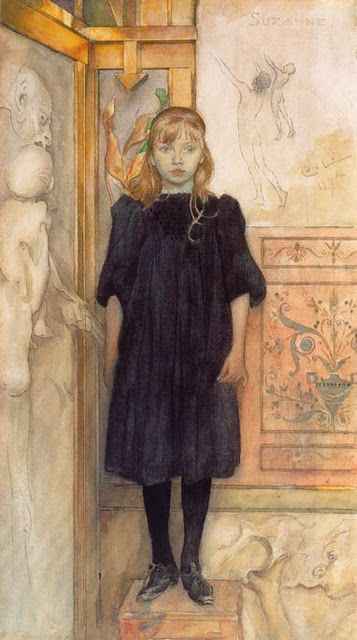 Carl Larrsson (Swedish Realist Painter, 1853-1919) Suzanne