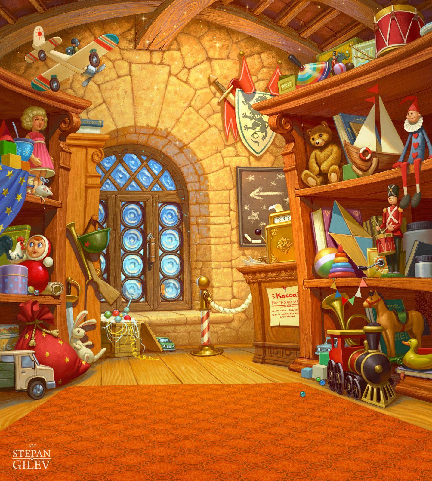 Magic toy store. Волшебный магазин игрушек., Stepan Gilev ...