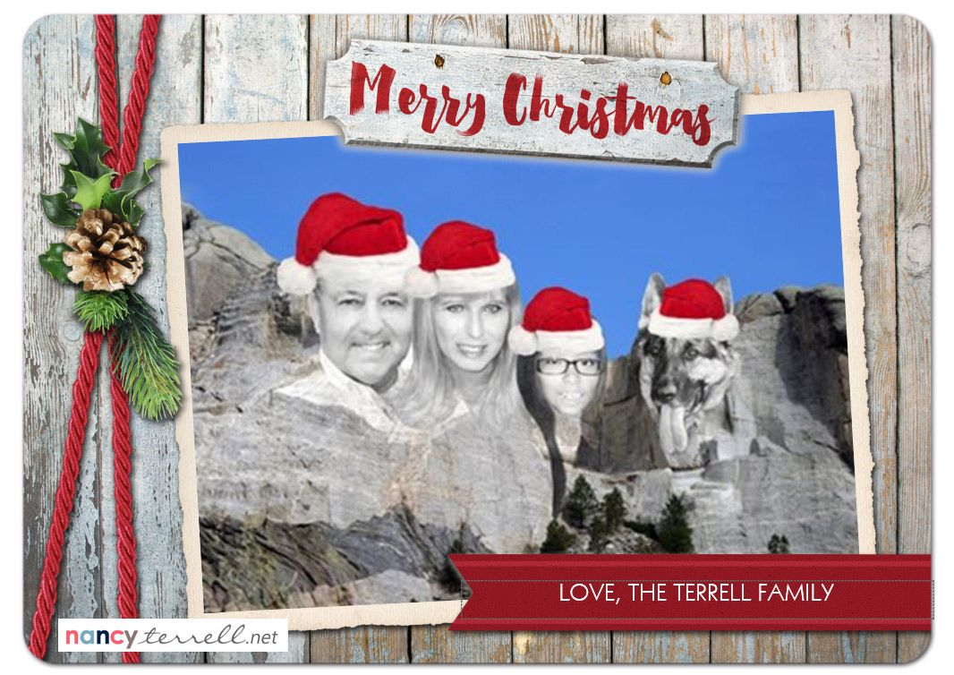 Mount Rushmore Family Christmas Card | Creative Christmas Card Ideas ...