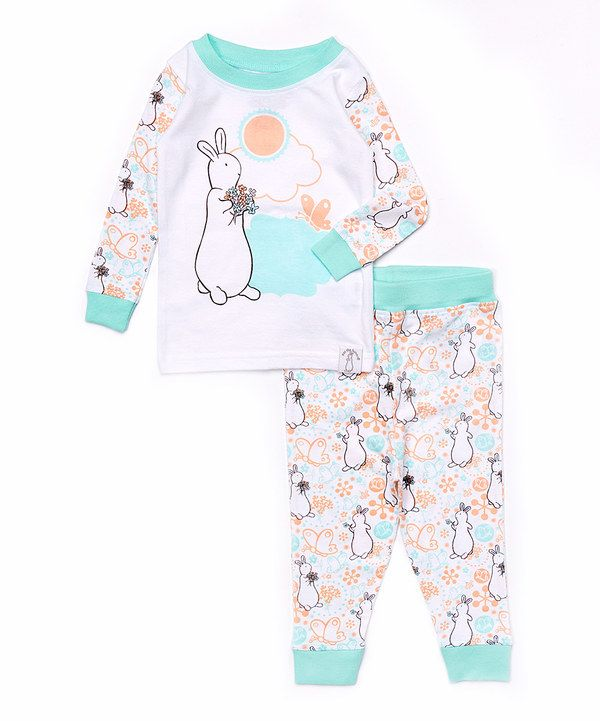 e3a7a32030ee Look at this Blue   White Pat the Bunny Pajama Set - Infant on ...