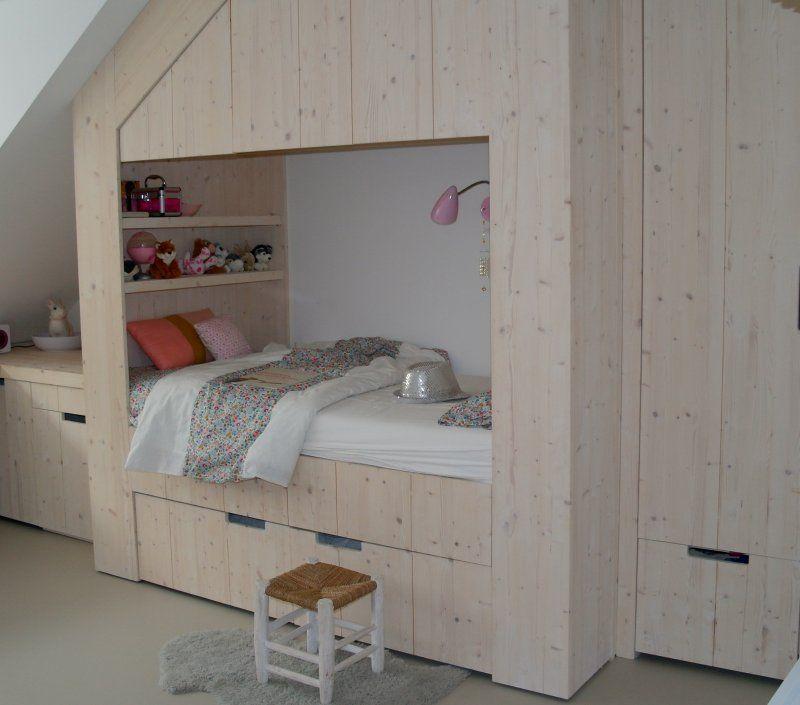 Bedstee all in one onder de nok zolderkamer pinterest kids rooms attic and room - Jongens kamer model ...