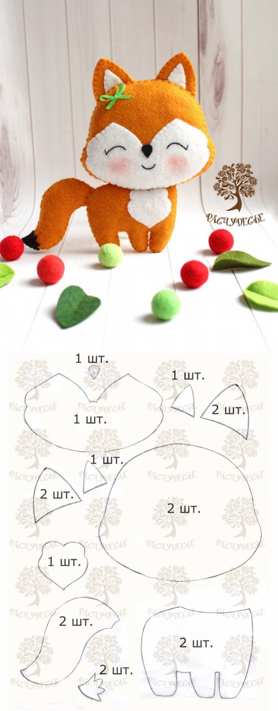 цитата Iluce : Шьем милую детскую игрушку из фетра «Лисичка ...