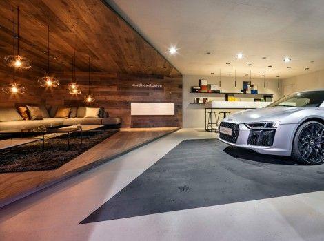 audi mondial de l 39 automobile 2016 schmidhuber auto show garage haus garage hobbyraum. Black Bedroom Furniture Sets. Home Design Ideas