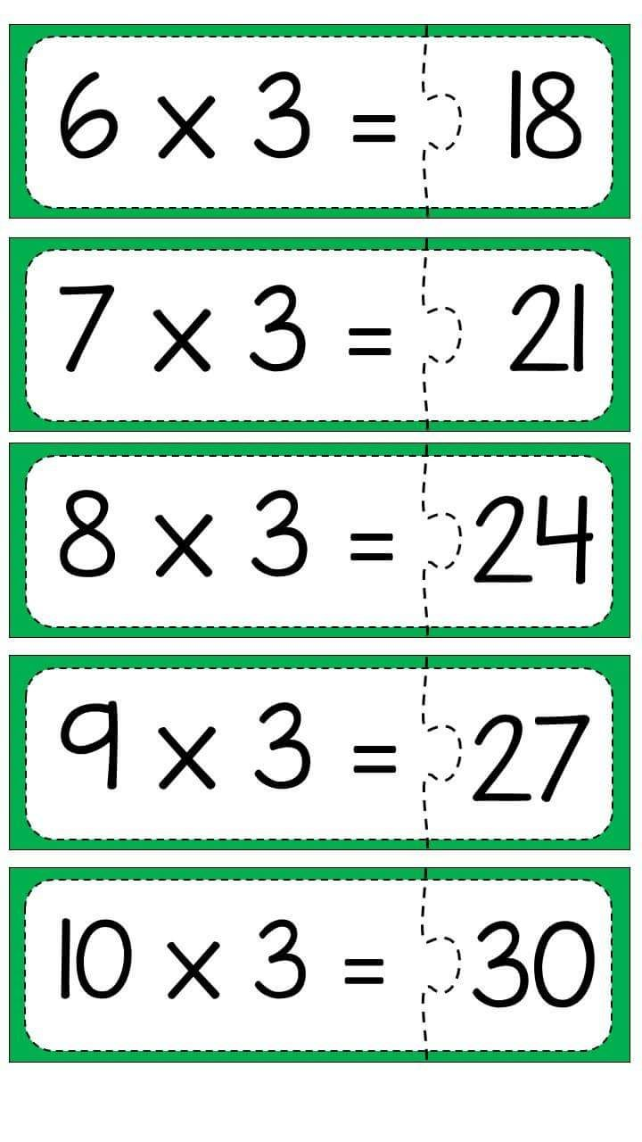 carpma-islemi-puzzle-calismasi-4 | Matemaatika | Pinterest | Math ...