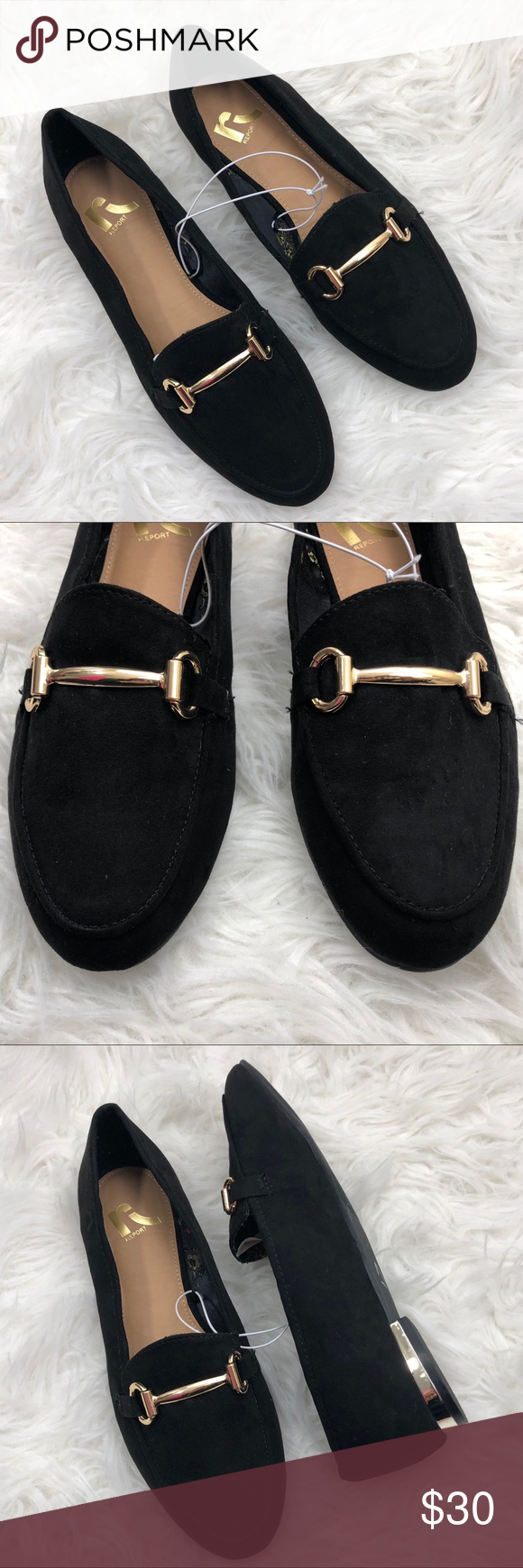 Report Faux Suede Buckle Slip On