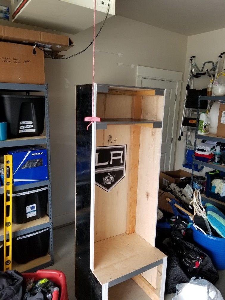 LA Kings homemade hockey locker