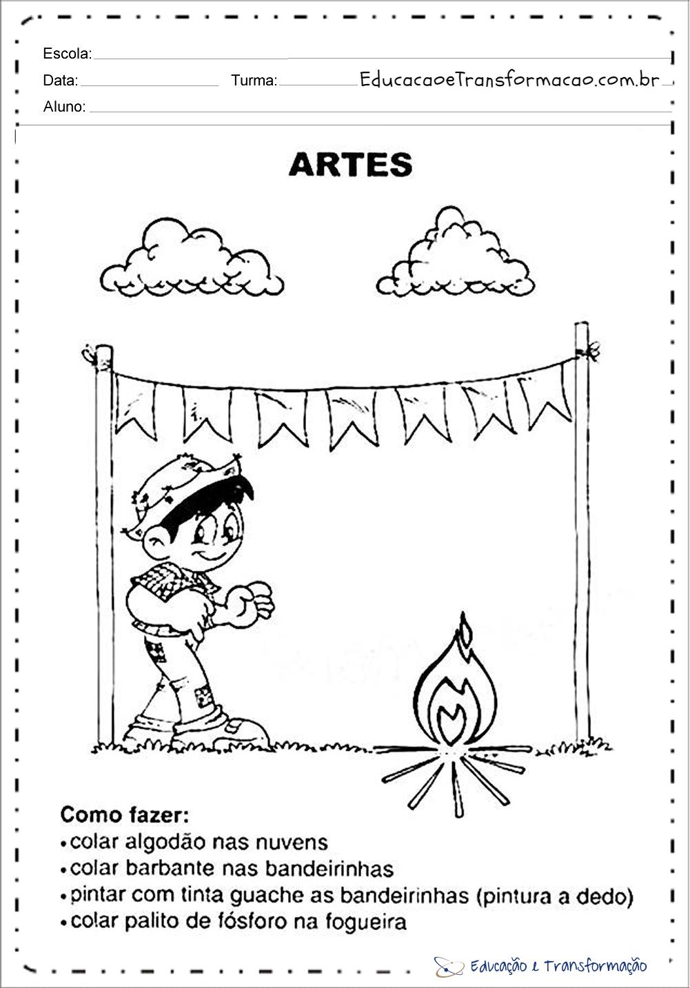 Atividades Festa Junina - Artes – Educação e Transformação ...