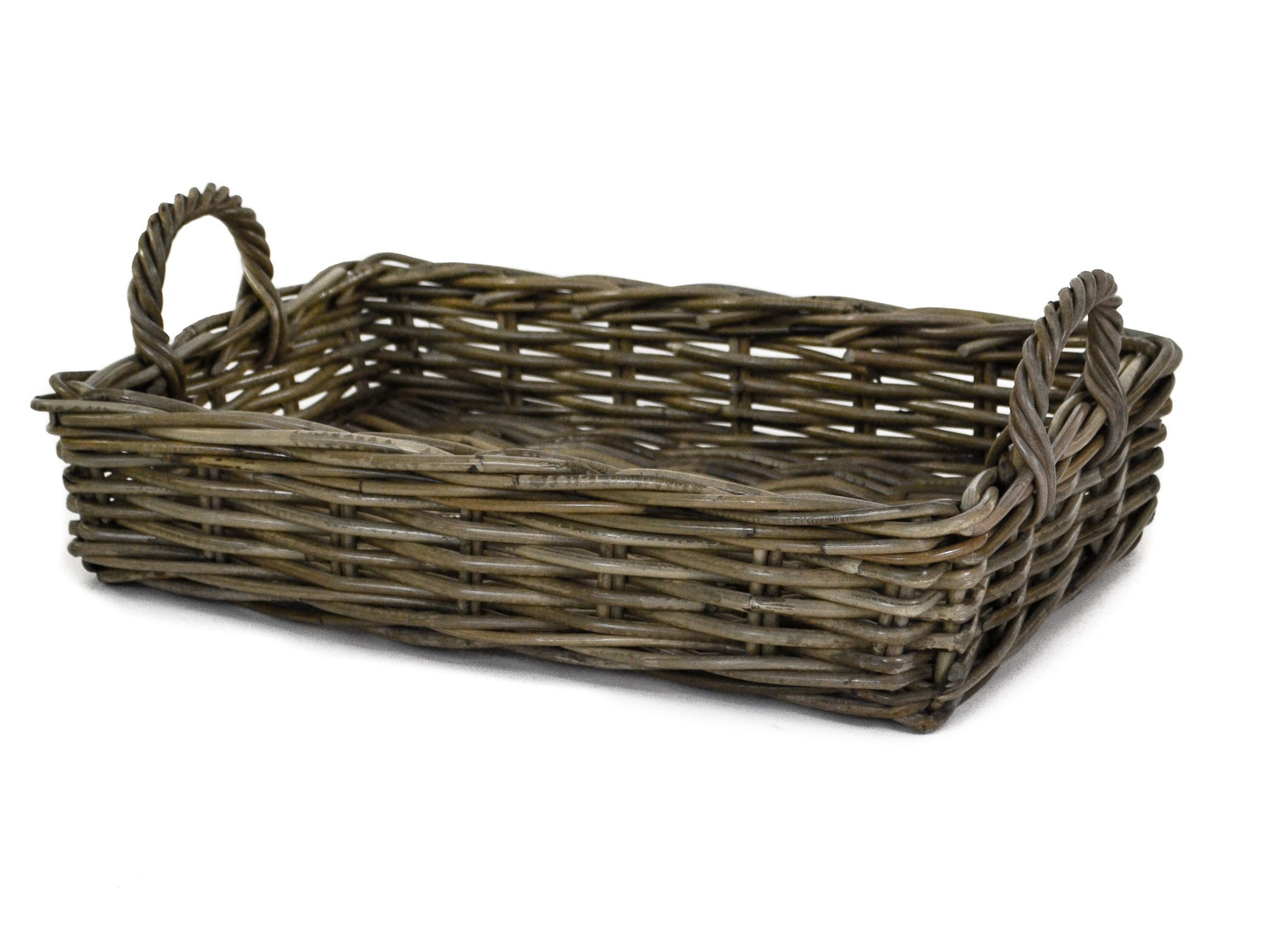 Home underbed storage baskets wicker underbed storage basket - Giant Grey Buff Kabu Kubu Rattan Wicker Rectangle Storage Log Basket With Jute Liner