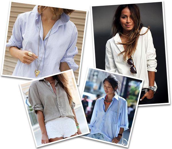 Het meest onmisbare stuk van je garderobe vind je in die van je vriend, vader of broer: het mannenhemd! Onze tips voor een sexy, vrouwelijke look: