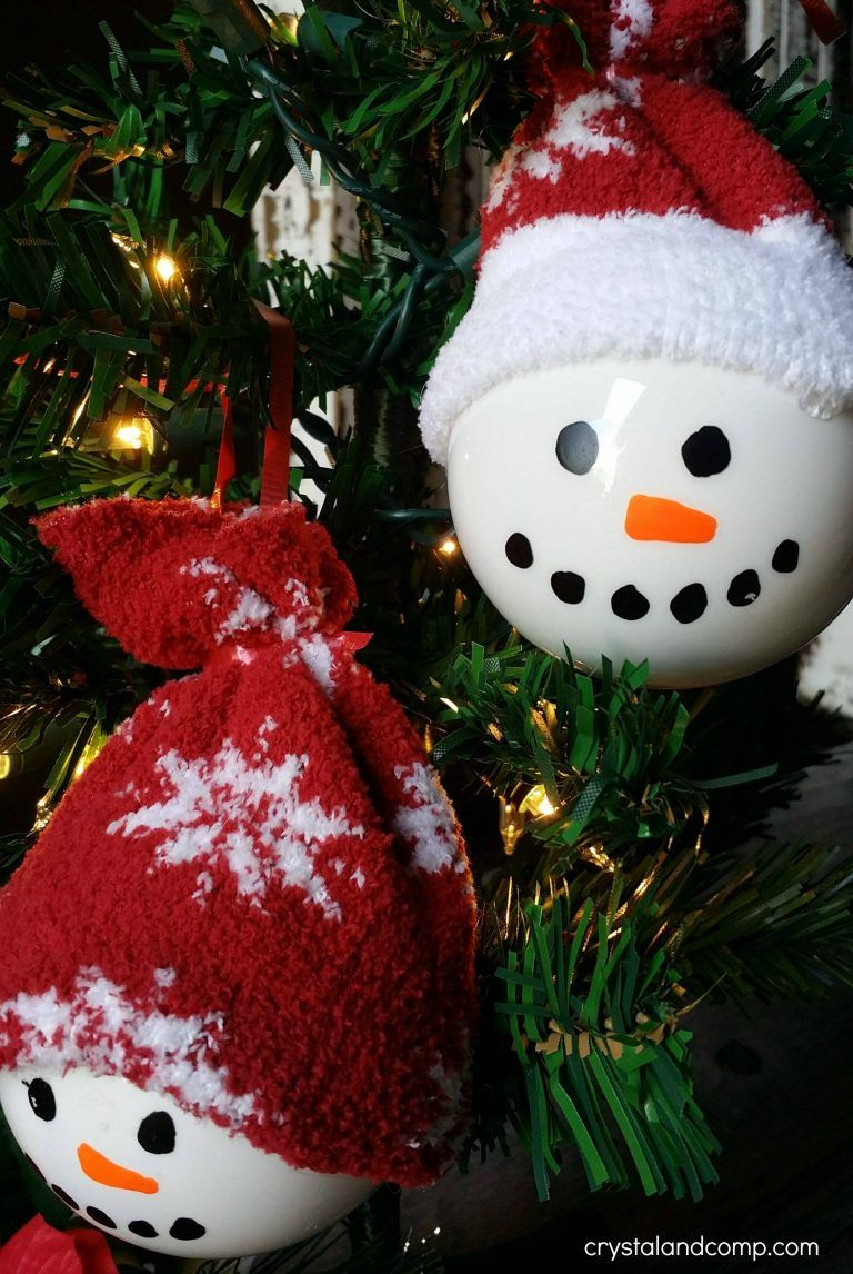 The Cutest Homemade Snowman Ornaments Ever Christmas Crafts For