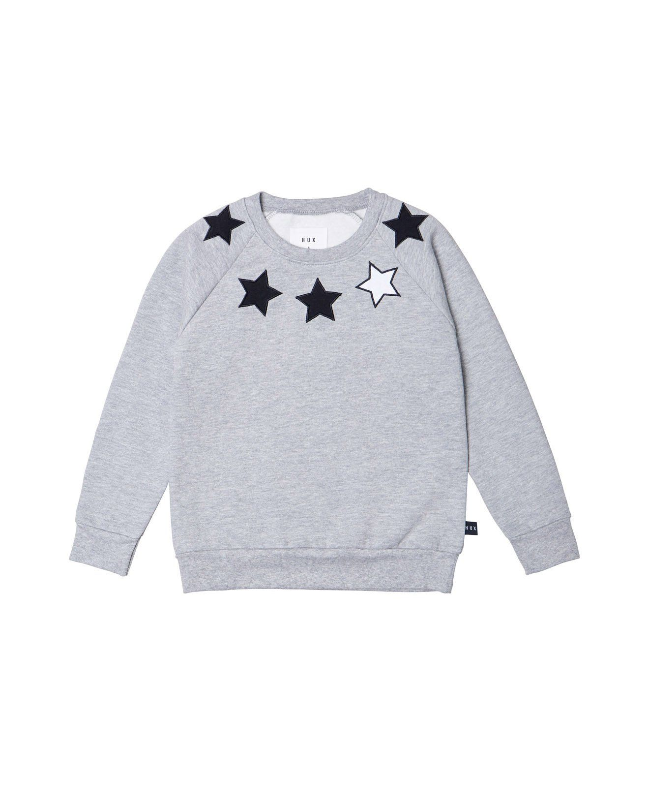 Huxbaby Star Sweatshirt Grey Marle Sweatshirts, Grey