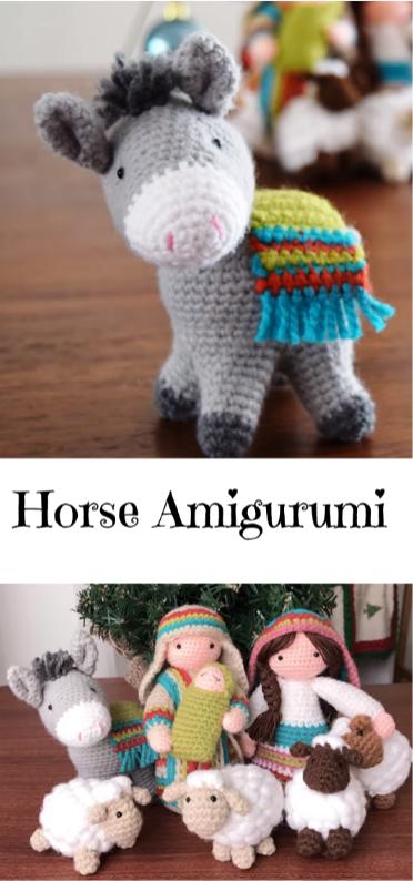 Horse Amigurumi   Crochet   Pinterest   Navidad, Ideas de navidad y ...