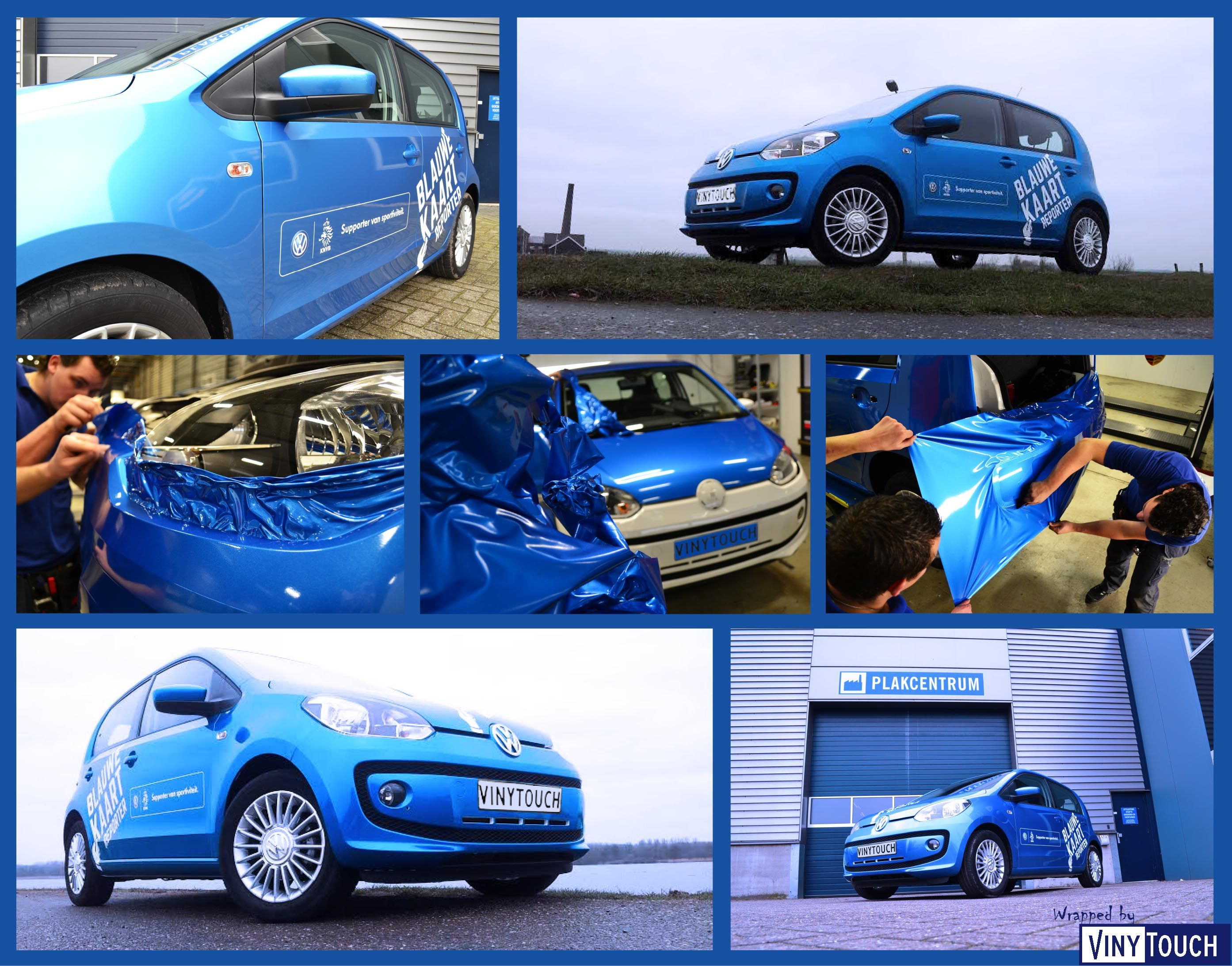 Colour car metallic - Car Wrapped In The Avery Bright Bleu Metallic By Vinytouch Vw Nederland Knvb Blauwe Kaart