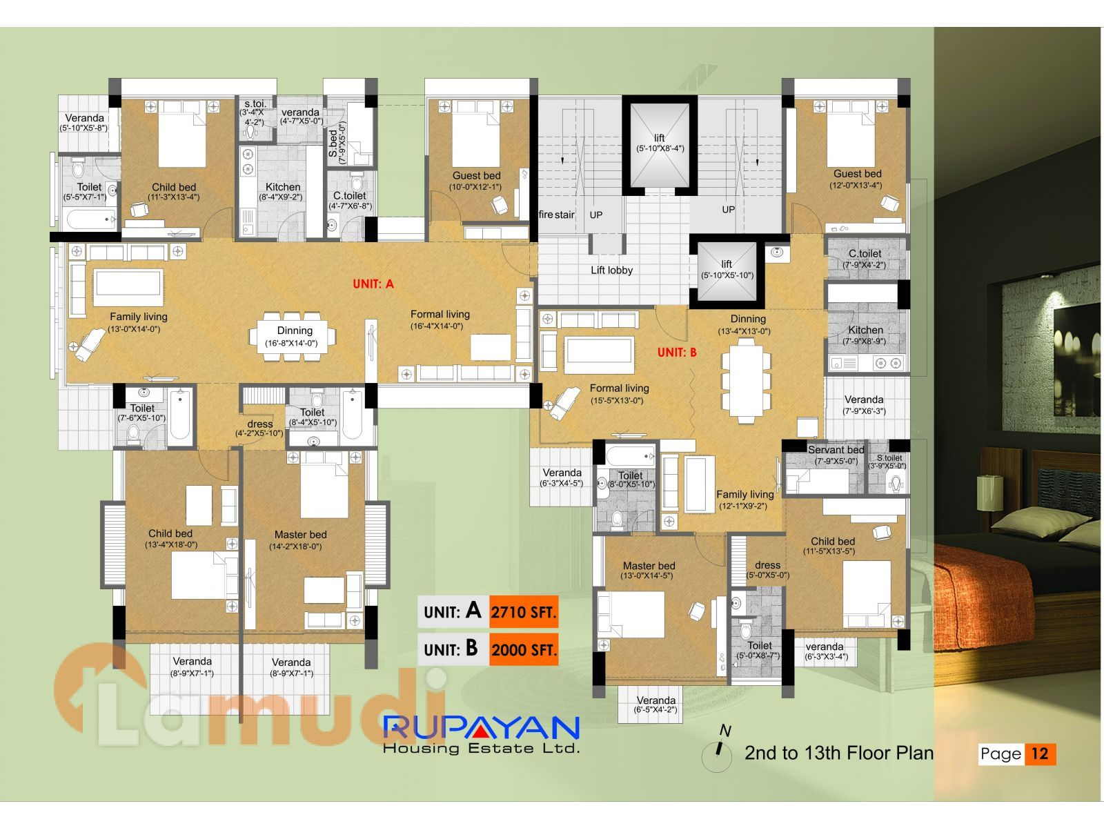 2710 Sq Ft Type A 4 Bedroom Apartment For Sale In Imam Lake Orchard Bashundhara 4 Bedroom Apartments Apartments For Sale Apartment Plans