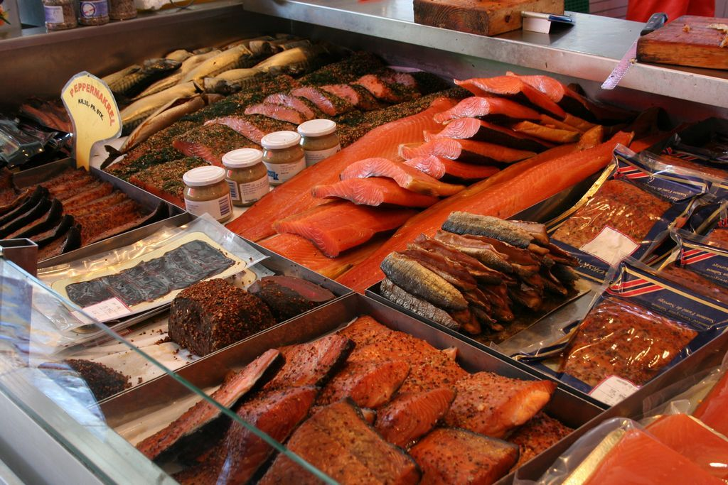 Savory Sight Norwegian Fish Market Smoked Fish Fresh Fish Market Scandinavian Food