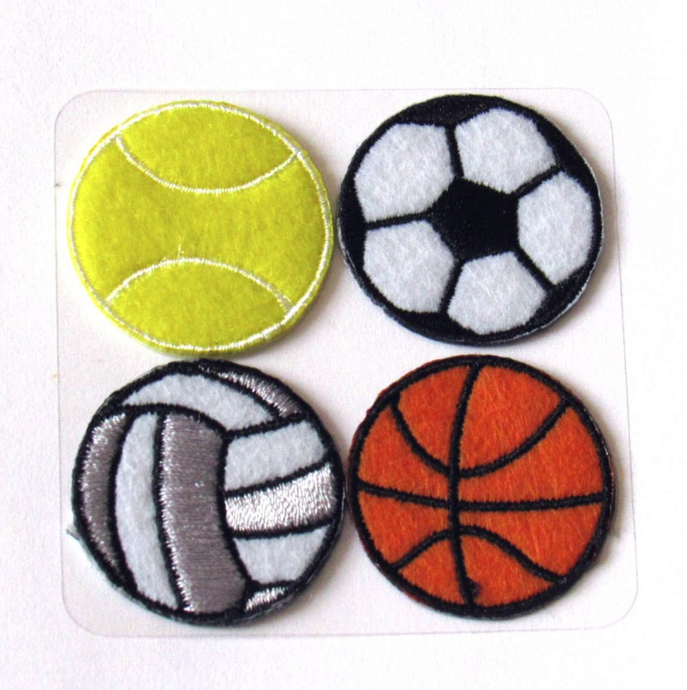 Ballons Appliques Thermocollantes Theme Sport Ballons Ronds