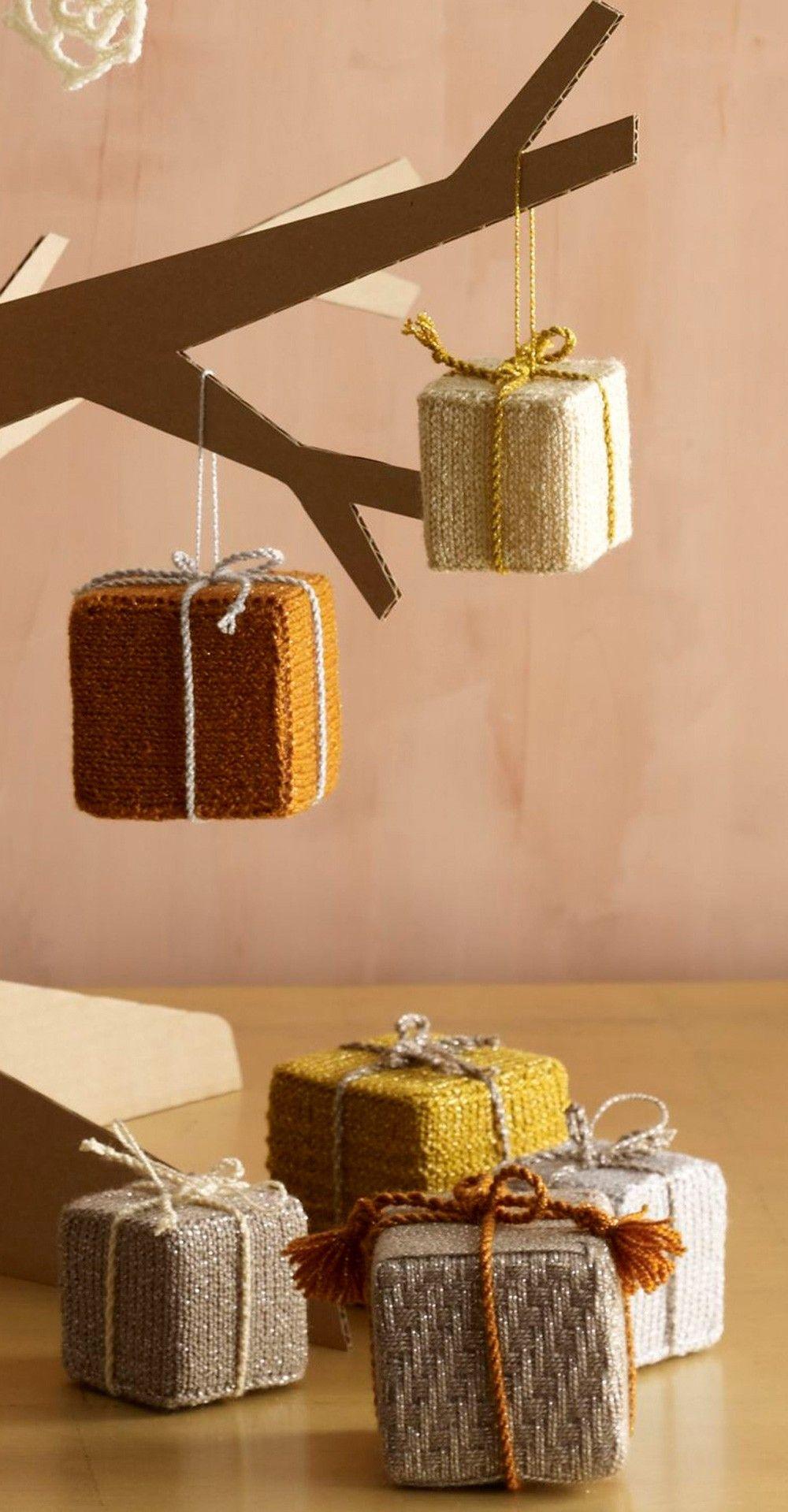 Holiday Box Ornaments (Knit)