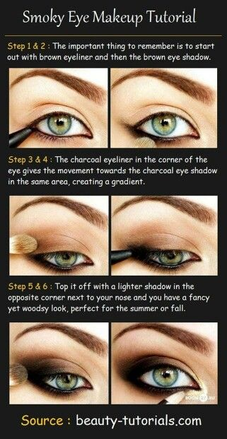 Step by step semi smokey eye make up for green eyes