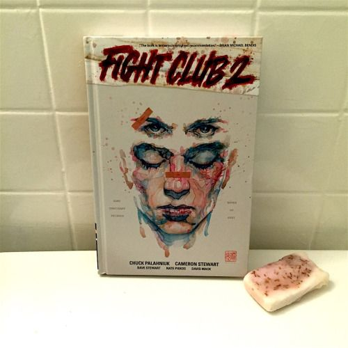 Fight Club 2  by Chuck Palahniuk (author), Cameron Stewart (illustrator) and David Mack (illustrator)  Dark Horse Comics  2016, 256 pages, 6.9 x 10.5 x 0.9 inches CLICK FOR MORE PHOTOS AND OUR REVIEW