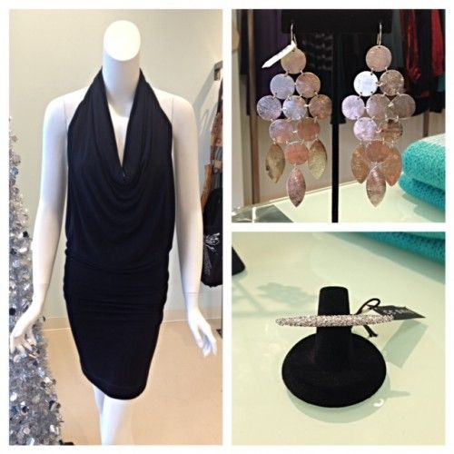 YFB Bennette dress-$195 Silver chandelier earrings-$148 CC Skye ring-$150 from Doll a Boutique